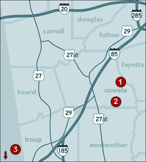 David Lindsey Homes Communities Map